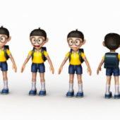 Character Anime School Boy