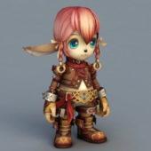 Chibi Elf Girl Baby Character