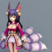 Chibi Style Fox Girl Character