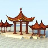 Vintage China Pavilions Building