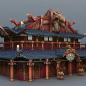 Ancient Chinese Temple Building