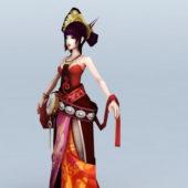 Chinese Character Anime Girl Dancer