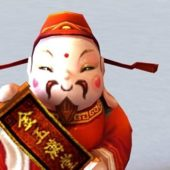 Chinese Caishen Character