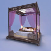 Chinese Home Furniture Canopy Bed