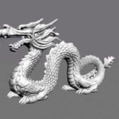 Chinese Dragon Statue Sculpture
