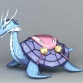 Chinese Fantasy Animal Dragon Turtle