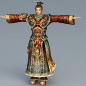 Chinese Emperor Character Design