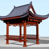 Ancient Chinese Garden Pavilion Building