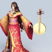 Chinese Character Geisha Girl