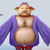 Chinese Character Mythical Zhu Bajie