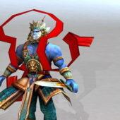 Chinese Character Mythology War God