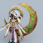 Chinese Character Myths Moon Goddess