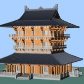 Chinese Ancient Pagoda Building