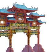 Chinese Gate Paifang Building