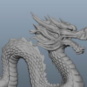 Asian Stone Dragon Statue