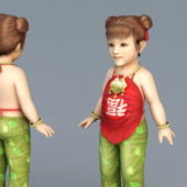 Chinese Character Toddler Girl