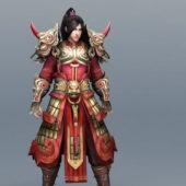 Chinese Character Warrior Art