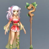 Chinese Character Girl Witch