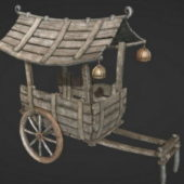 Chinese Ancient Wooden Cart