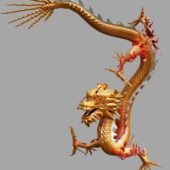 Chinese Vintage Yellow Dragon