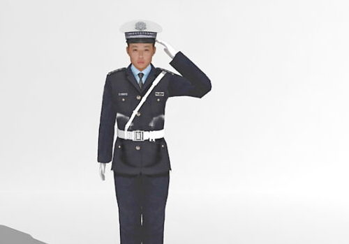 Chinese Policeman Character