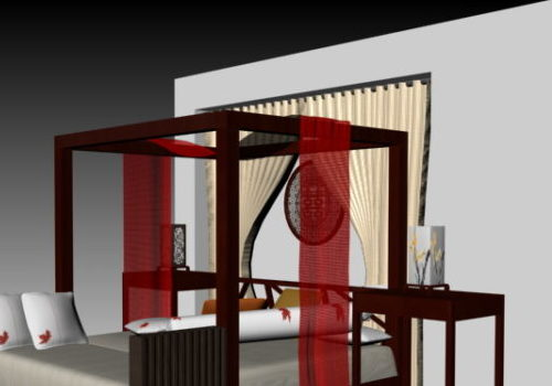Chinese Poster Bed