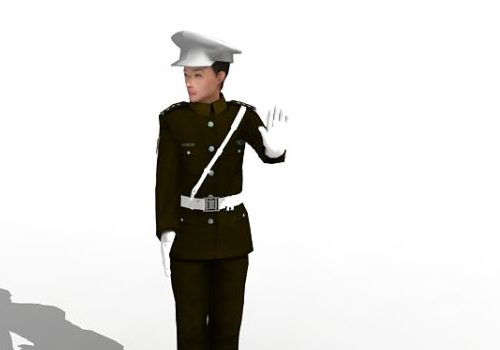 Chinese Traffic Police Character