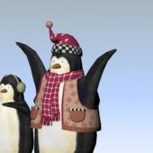 Wild Animal Christmas Penguins
