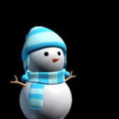 Winter Snowman With Tiles