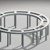 Circular Shape Stone Pergola Architecture