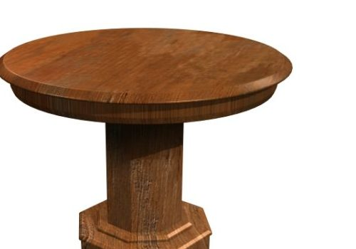 Wooden Circular Solid Table