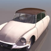 White Citroen Ds Sedan Car