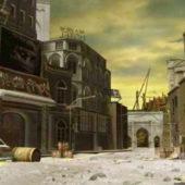 City In Ruins Buildings
