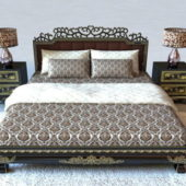 Classic Home Furniture Luxury Wood Bed