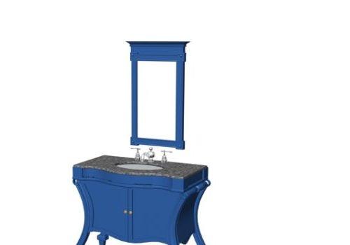 Blue Classic Bathroom Vanity Furniture