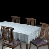 Furniture Classic Wood Dining Room