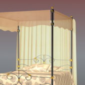 Classic Iron Canopy Bed Furniture