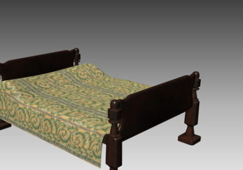 Classic Sleigh Bed Wooden Material