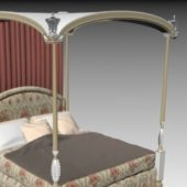 Classical Four-poster Bed Furniture