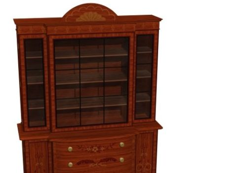 Antique Satinwood Bookcase
