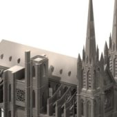 Ancient Clermont Cathedral Gothic