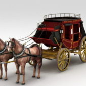 Coach Carriage With Horse
