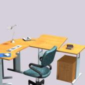 Colorful Furniture Office Desk Units