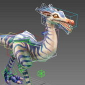 Compsognathus Dinosaur Rigged Animation