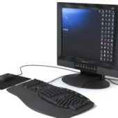 Pc Monitor Keyboard Mouse