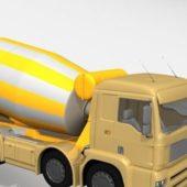 Yellow Concrete Truck Mixer