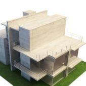 Concrete Villa Building Architecture