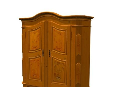 Wooden Constanza Armoire Cabinet