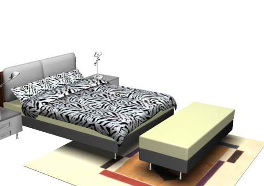 Furniture Contemporary Style Bedroom Set
