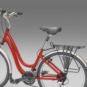 Red Contemporary Utility Bicycle